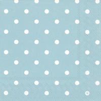 Napkins 33x33 cm - LITTLE DOTS turquoise