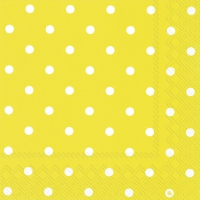 Lunch Servietten LITTLE DOTS yellow