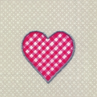 Lunch Tovaglioli LOVELY DOTTY linen red