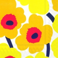 Lunch napkins UNIKKO dark yellow