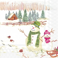 Lunch napkins WINTERLY COUNTRYSIDE
