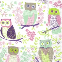 Lunch Servietten JOLLY OWLS light green
