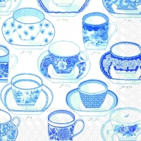 Lunch Servietten COLLECTION OF CUPS white blue