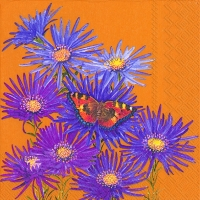 Lunch Servietten PURPLE ASTER ochre