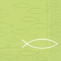 Lunch Servietten PEACEFUL FISH light green