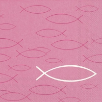 Lunch napkins PEACEFUL FISH pink