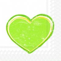 Lunch Servietten HEARTBEAT light green