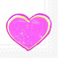 Lunch Servietten HEARTBEAT pink