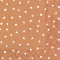 Lunch Servietten LITTLE STARS copper