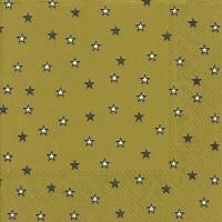 Lunch Servietten LITTLE STARS gold