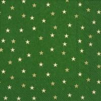 Lunch Servietten LITTLE STARS green gold