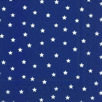 Napkins 33x33 cm - LITTLE STARS dark blue