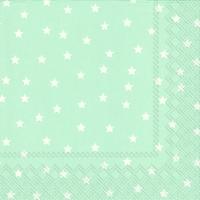 Serviettes de table 33x33 cm - LITTLE STARS bleu clair