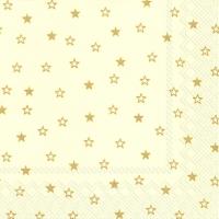 Lunch Servietten LITTLE STARS cream gold