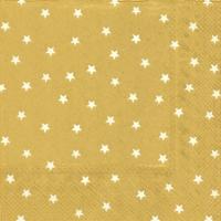 Lunch Servietten LITTLE STARS gold white