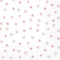Lunch Servietten LITTLE STARS white copper