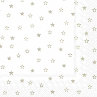 Lunch Servietten LITTLE STARS white linen