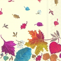 Lunch napkins AUTUMN DAY cream