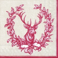 Lunch napkins COUNTRY DEER red