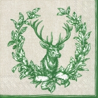 Lunch napkins COUNTRY DEER green