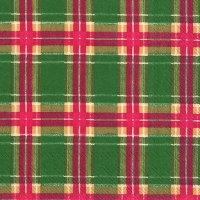 Serviettes lunch FLANNEL CHECK green
