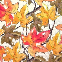Lunch napkins FALL LEAVES