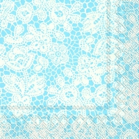 Lunch Servietten PRETTY LACE light blue