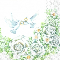 Serviettes lunch ROMANTIC DOVES