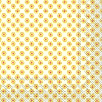 Lunch Servietten CUTE PATTERN white yellow