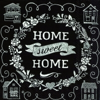 Lunch Servietten HOME SWEET HOME black