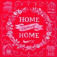 Lunch Servietten HOME SWEET HOME red