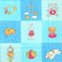 Serviettes lunch BABIES TOYS blue
