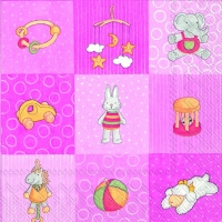 Serviettes lunch BABIES TOYS rose