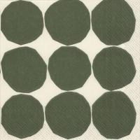Tovaglioli 33x33 cm - KIVET bianco verde