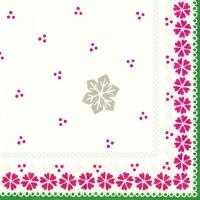 Serviettes de table 33x33 cm - GUNDA rouge vert
