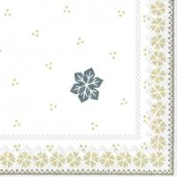 Serviettes de table 33x33 cm - GUNDA lin blanc