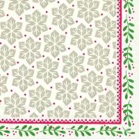 Serviettes de table 33x33 cm - GRETA rouge vert
