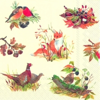Lunch napkins AUTUMN WILDLIFE