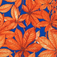 Lunch napkins CHESTNUT FOLIAGE blue