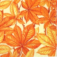 Lunch napkins CHESTNUT FOLIAGE cream