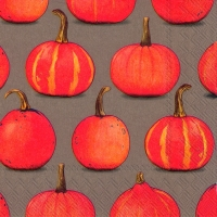 Lunch napkins PUMPKIN PARTY brown