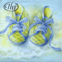 Lunch napkins Baby Shoes blue