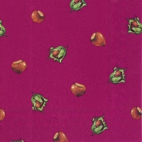 Lunch napkins HAZEL red