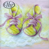 Lunch napkins Baby Shoes rose