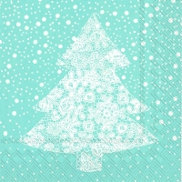 Lunch Servietten CHRISTMAS LACE light blue