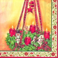 Lunch napkins ADVENT WREATH