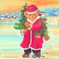 Lunch napkins SANTA BEAR