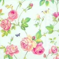 Lunch napkins NEW RAMBLING ROSE blue