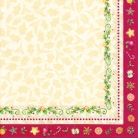Lunch napkins CHRISTMAS BAKERY LEAVES (V&B)