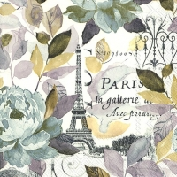Lunch napkins JARDIN PARIS grey
